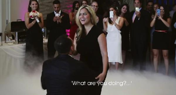a confused sophia, when jack went down on one knee