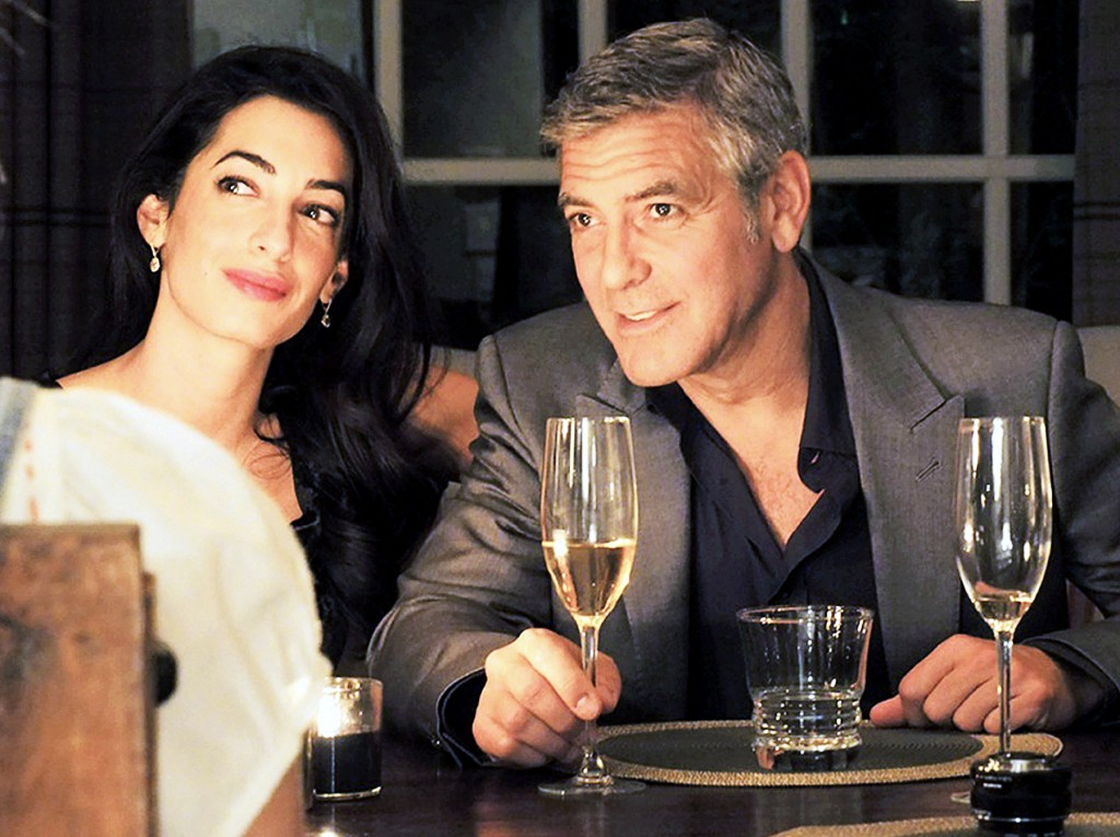 amal alamudding and george clooney