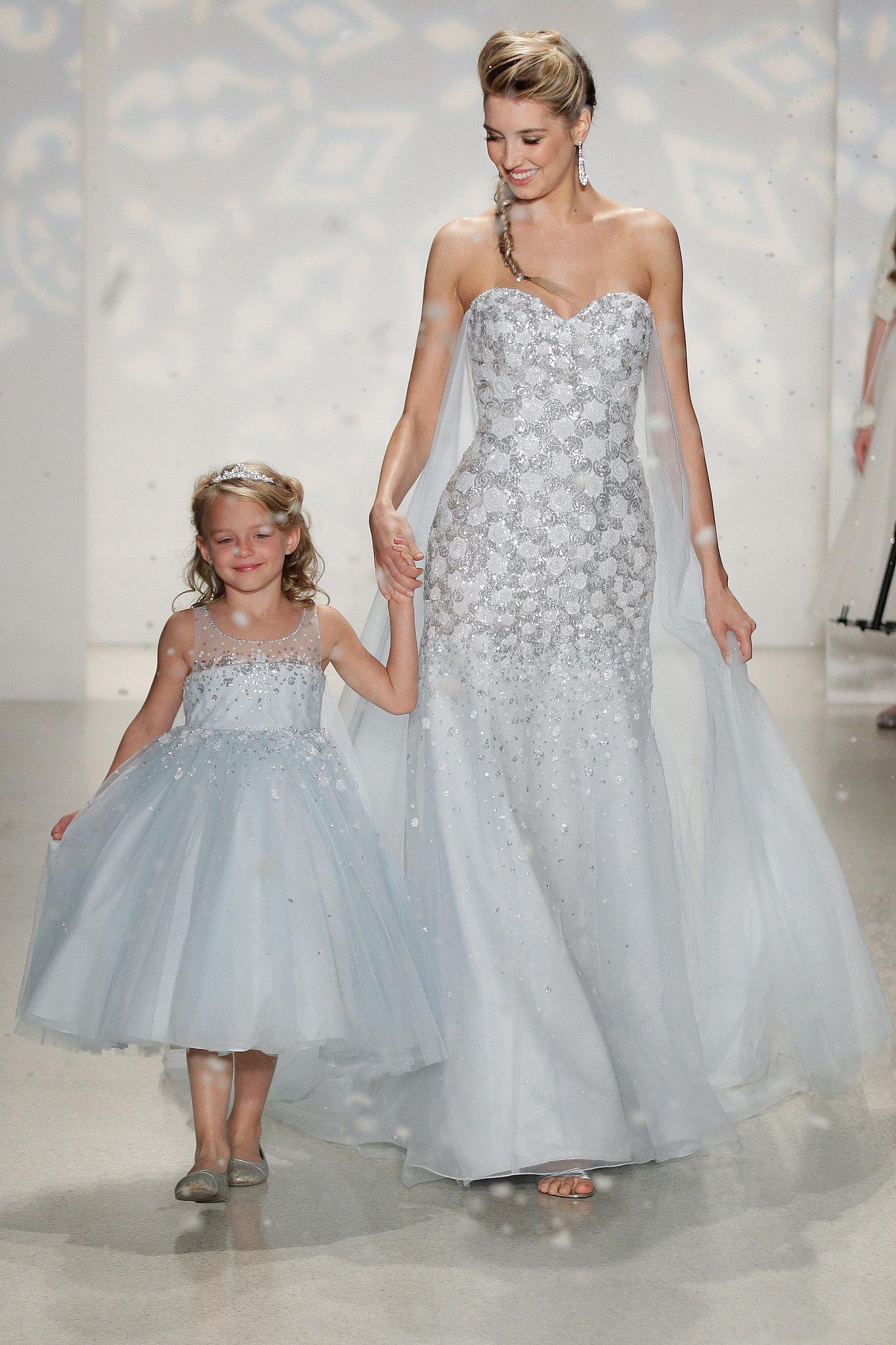 Go inspired elsa white wedding dresses