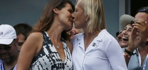 martina navratilova kissing julia after the proposal