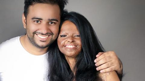 rahul saharan, the photographer, with one of the models