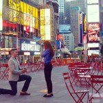 Ryan Serhant, the reality TV star, shuts down Times Square to propose to his girlfriend