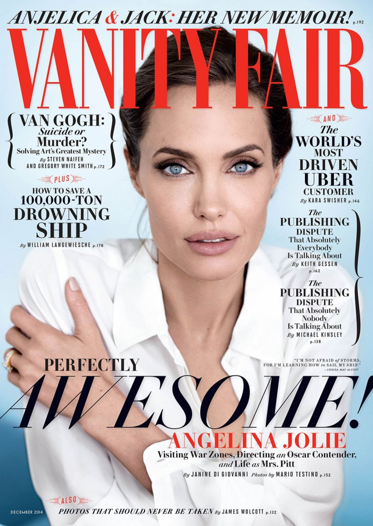 Angelina Jolie on the cover of Vanity Fair's December issue