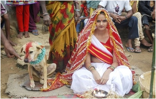 woman married dog