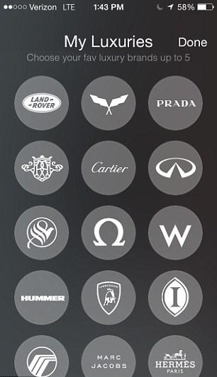 LUXY app luxury brands