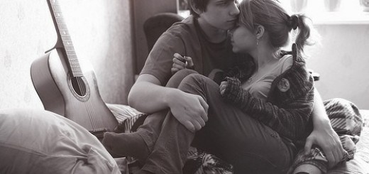 a cuddling couple