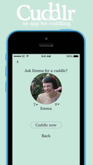 cuddlr app cuddle request