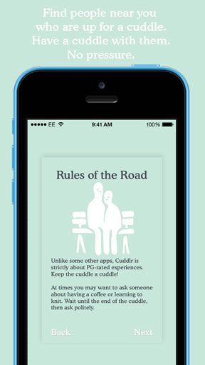 cuddlr app rules page