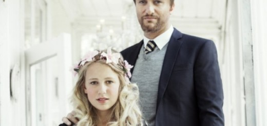 thea, 12, with geir, 37, whom is all set to wed