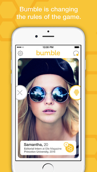 bumble page showing a user's profile