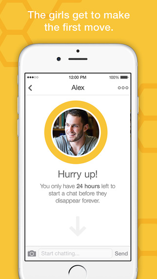 bumble page showing the 24 hour deadline to connect with a matched user