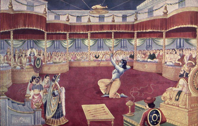 draupadi swayamvara