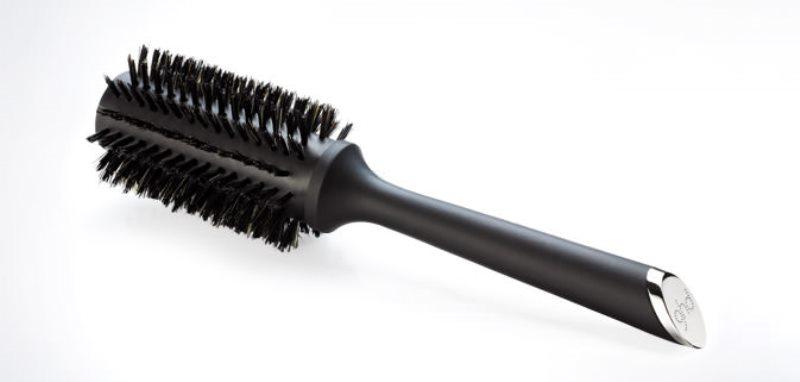 half radial or round hair brush