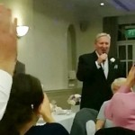 Father of the bride gives his little girl the best wedding present