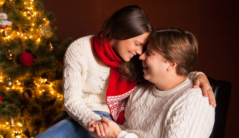 couple in front of a christmas tree_New_Love_Times