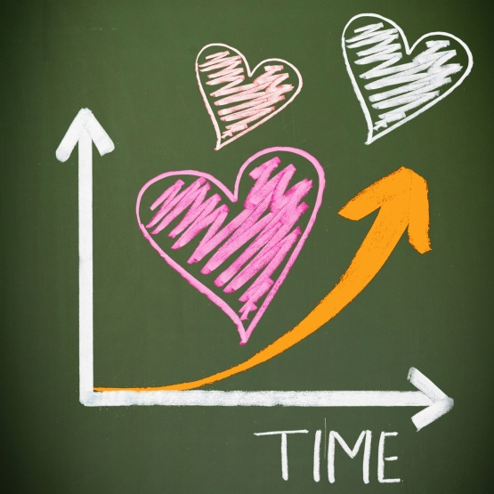 love increases with time