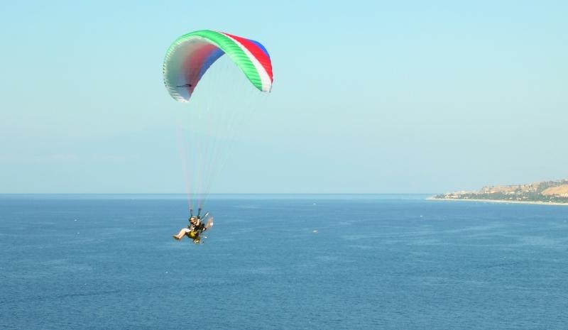 Paramotor flight