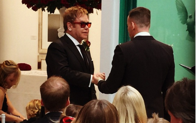 sir elton john and david furnish exchanging vows