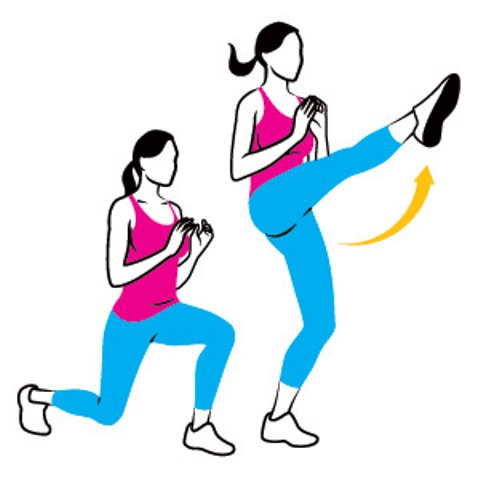 snap kick lunges