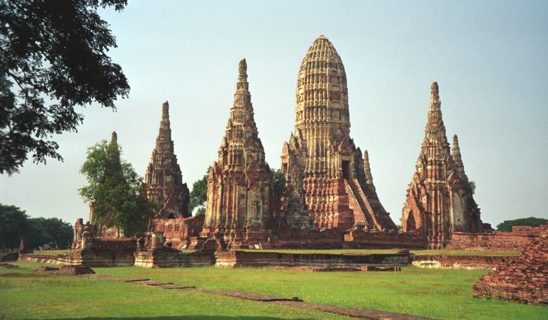 temple ruinen, ayuttaya, thailand