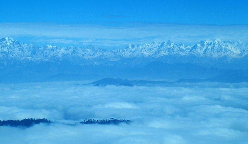 a view of kumaun himalayas from binsar