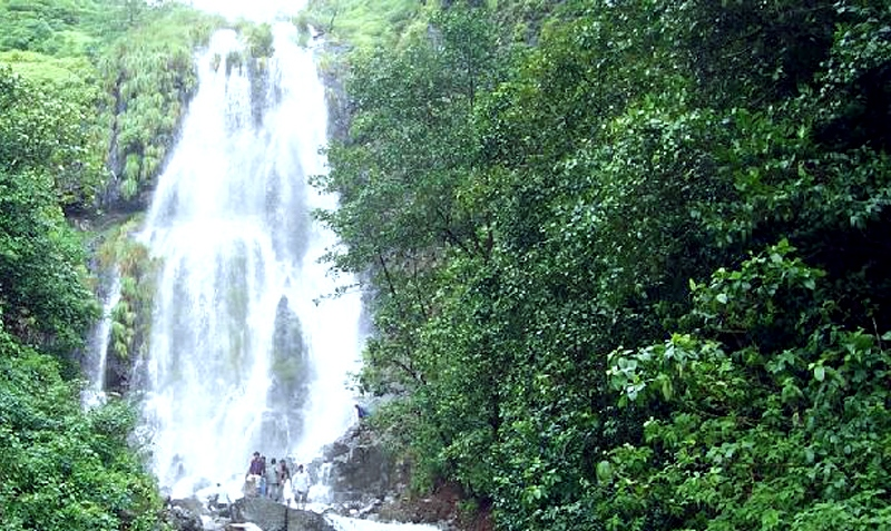 a waterfall in amboli
