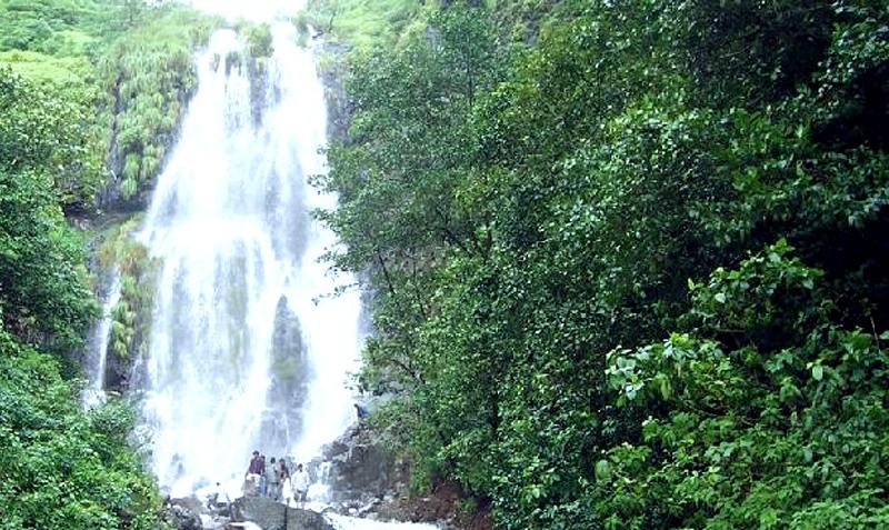 a waterfall in amboli