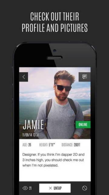 antidate app page showing a male user's profile and pictures
