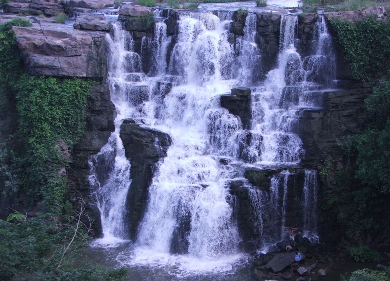 ethipothala waterfalls at guntur