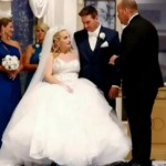 Bride walks down the aisle on her own on wedding day. Here's why that is so special