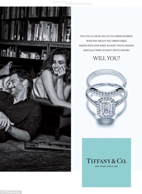 tiffany ad depicting a couple relaxing at home