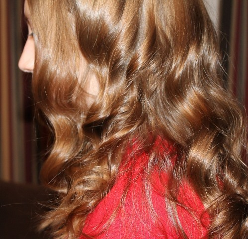 wavy, curly hair