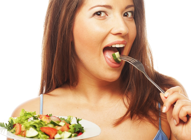 woman eating a salad_New_Love_Times