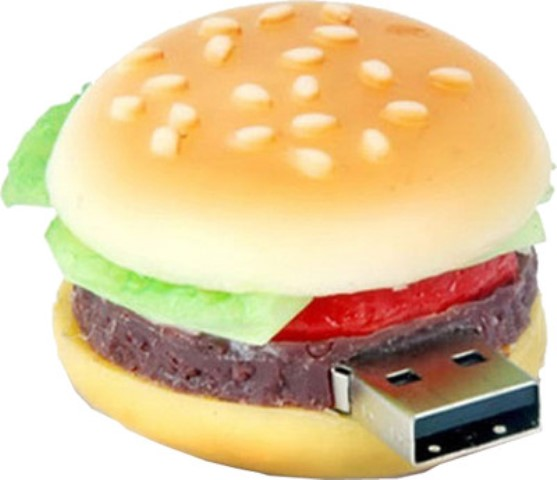 burger-shaped pen drive