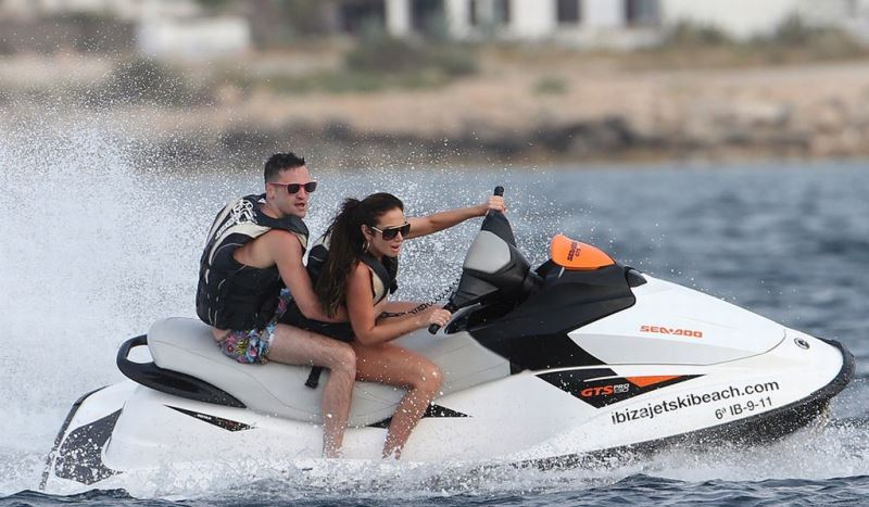 couple on a jetski