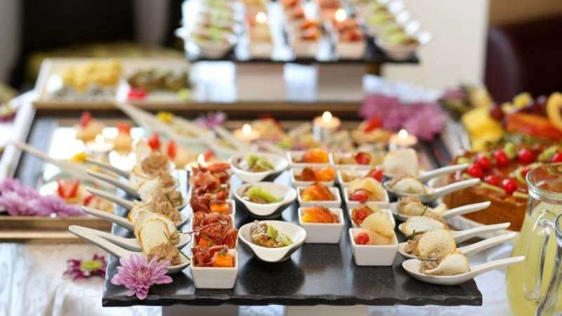 few of the offerings at the midnight buffet