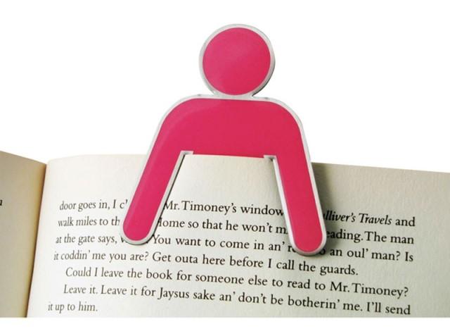 her bookmark