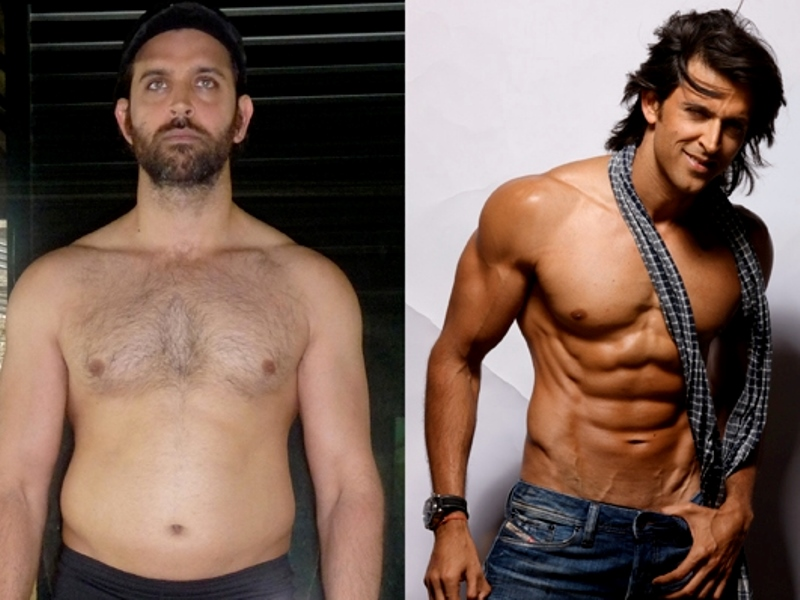 hrithik roshan before and after achieving his desired toned body