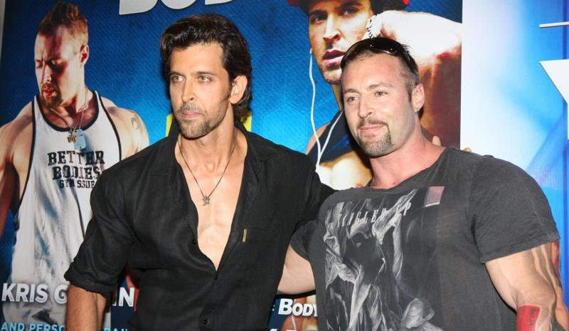 hrithik roshan with his trainer kris gethin