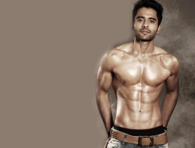 jackky bhagnani showing off his chiseled body