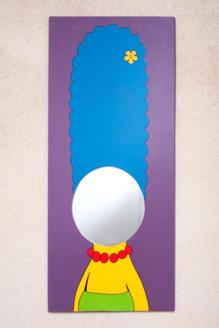 marge simpson shape hand mirror