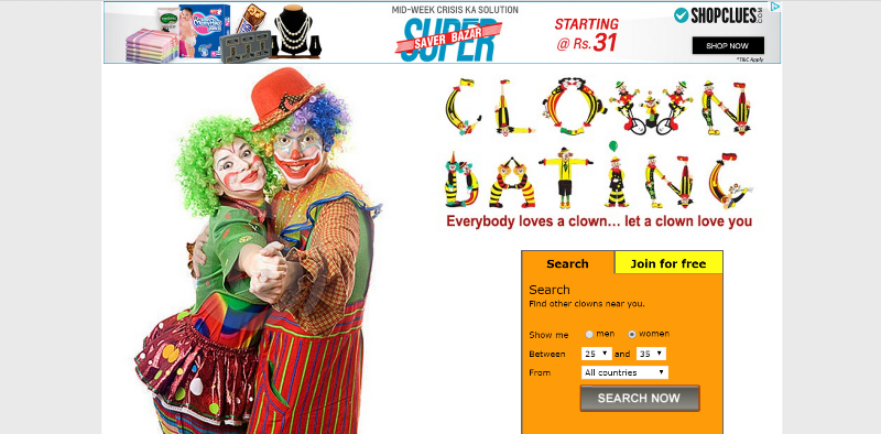 Clown dating sight