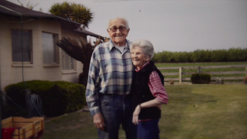 floyd and violet hartwig at their ranch in easton, california