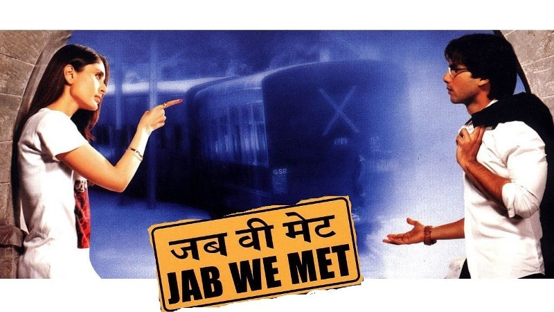 Shahid Kapoor and Kareena Kapoor in Jab We Met