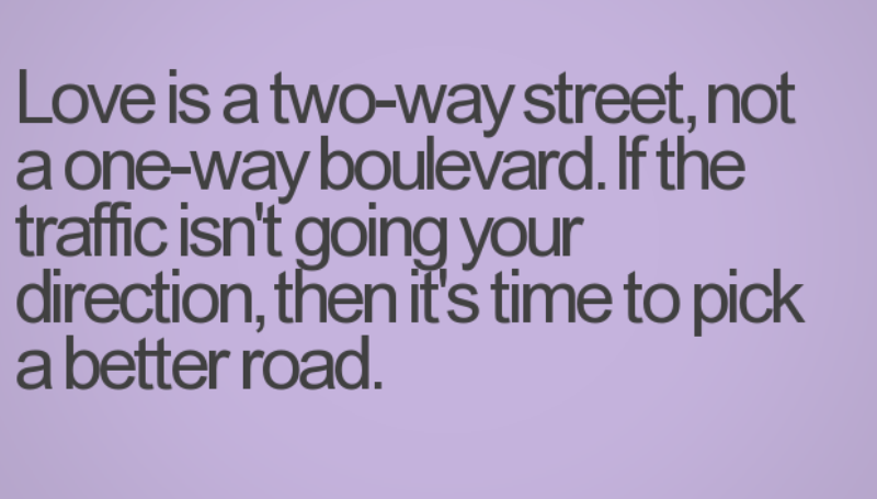 love is a two-way street
