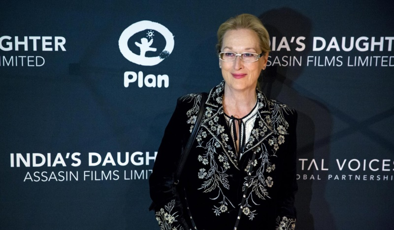 meryl streep at the screening of the documentary, india's daughter