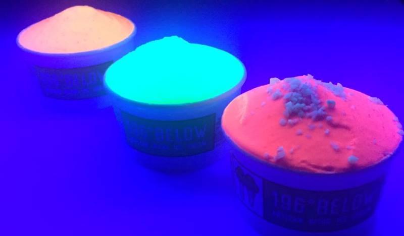 neon nitro ice cream by 196 below, melbourne, australia