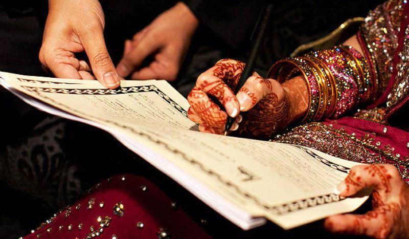 Signing the Nikaah