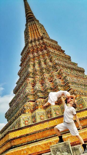the couple in bangkok, thailand