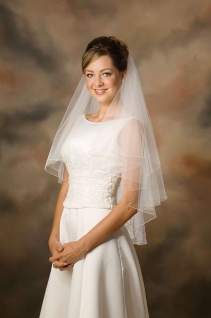 2-tiered wedding veil
